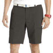IZOD® Herringbone Flat-Front Cargo Shorts