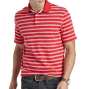 IZOD® Short-Sleeve Striped Interlock Polo