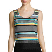 Love by Design Crochet Lace-Trim Tank Top