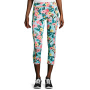 Self Esteem® Botanical Print Performance Cropped Leggings