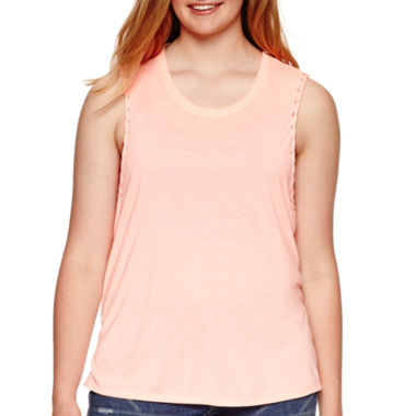 jcpenney.com | Arizona Solid Muscle Tank Top - Juniors Plus