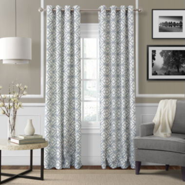 jcpenney.com | Crackle Grommet-Top Curtain Panel