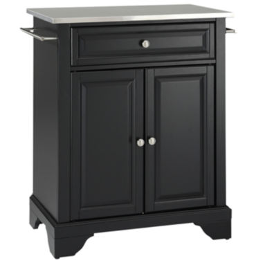 jcpenney.com | Chatham Small Stainless-Steel-Top Portable Kitchen Island