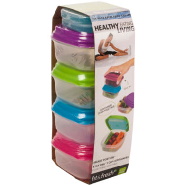 jcpenney.com | Fit & Fresh® Healthy Living 10-pc. 1-Cup Stak Paks Set