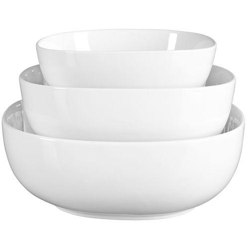 Denmark® 3-pc. Soft Square Porcelain Serving Bowl Set