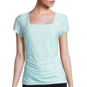 Alyx® Squareneck Shadow-Striped Top