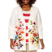 Liz Claiborne® Floral Jacket - Plus