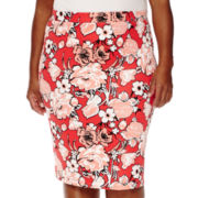Liz Claiborne® Slim Pencil Skirt - Plus