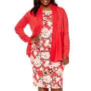 Liz Claiborne® Long-Sleeve Cardigan, Short-Sleeve Top or Pencil Skirt - Plus