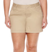 Stylus™ Twill Cotton Shorts - Plus