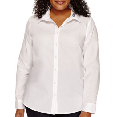 jcpenney.com | St. John's Bay® Wrinkle-Free Button-Front Shirt
