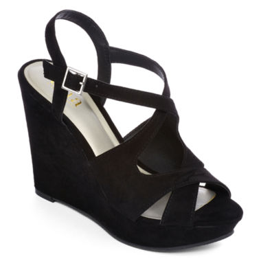 jcpenney.com | a.n.a® Maya Microsuede Wedge Sandals
