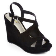 a.n.a® Maya Microsuede Wedge Sandals