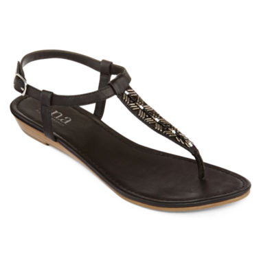 jcpenney.com | a.n.a® Gilbert Beaded T-Strap Sandals