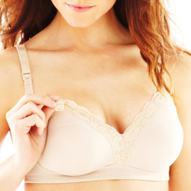 jcpenney.com | Leading Lady Lace-Trim Wireless Nursing Bra