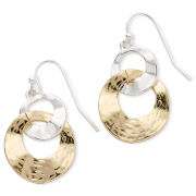 Liz Claiborne Two-Tone Double-Circle Earrings