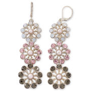 Monet® Multicolor Triple-Drop Floral Earrings