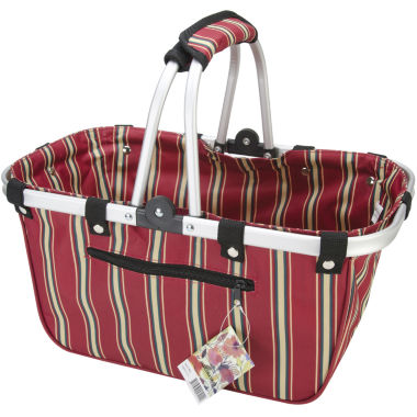 jcpenney.com | JanetBasket Large Red Stripes Aluminum Frame Basket