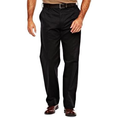 IZOD Wrinkle Resistant Flat Front Twill PantsBig & Tall