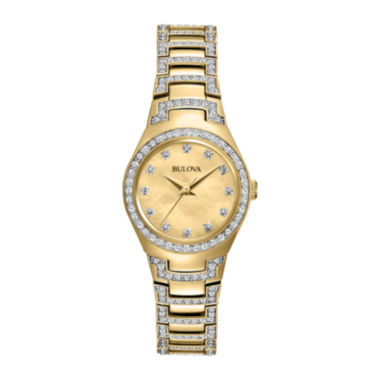 jcpenney.com | Bulova® Womens Two-Tone Mother-of-Pearl Crystal Accent Watch 98L199
