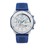 Bulova® Mens Blue Silicone Strap Chronograph Sport Watch 98B200