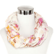 Floral Ruched Infinity Scarf