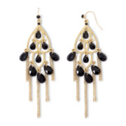 Mixit Black Bead & Chain Chandelier Earrings