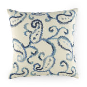 Indoor/Outdoor Paisley Decorative Pillow
