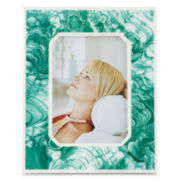 Happy Chic by Jonathan Adler Nina Faux-Malachite Frame