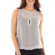 Bisou Bisou® Clasp-Front Sleeveless Top
