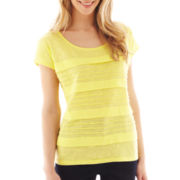 Liz Claiborne Short-Sleeve Tiered Tee