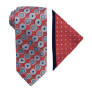 Steve Harvey® Medallion Tie and Dot Pocket Square Set