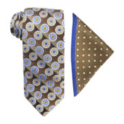 Steve Harvey® Medallion Tie and Dot Pocket Square Set