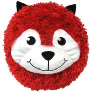 Round Red Fox Pillow