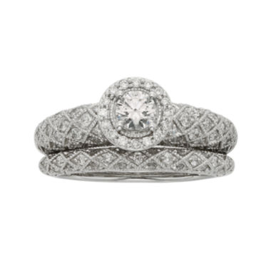 jcpenney.com | 1 CT. T. W. Certified Diamond Art Deco Bridal Ring Set