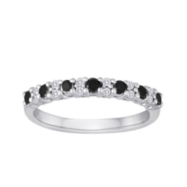 jcpenney.com | 1/2 CT. T.W. White and Color-Enhanced Black Diamond Wedding Band