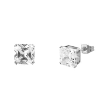 jcpenney.com | Cubic Zirconia 3mm Stainless Steel Square Stud Earrings