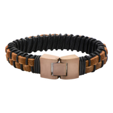 jcpenney.com | Mens Rope and Black Leather Bracelet