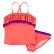 Angel Beach 2-pc. Ruffle Tankini – Girls 7-16