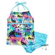 Breaking Waves Scrunched Boyshort Tankini – Girls 7-16