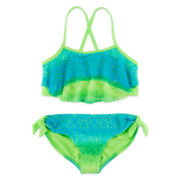 Angel Beach 2-pc. Crochet Ruffle Swimsuit – Girls 7-16