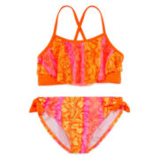 Angel Beach 2-pc. Mesh Flounce Swimsuit – Girls 7-16