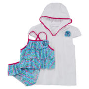 3-pc. Cover Up and Tankini Set – Girls 4-6x