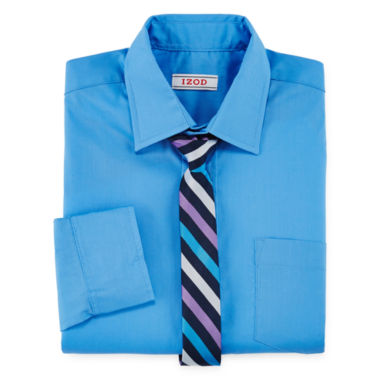 jcpenney.com | IZOD® Dress Shirt and Clip-On Tie Set - Boys 4-7