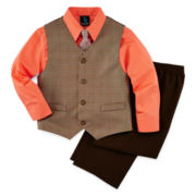 Steve Harvey® 4-pc. Vest, Shirt, Clip-On Tie and Pants Set - Boys 8-18