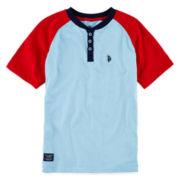 U.S. Polo Assn.® Raglan-Sleeve Henley – Boys 8-18