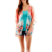 Society Girl Pompom-Trim Kimono or Arizona Roll-Cuff Jean Shorts