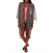 Love By Design Chiffon Kimono or Arizona Roll-Cuff Jean Shorts