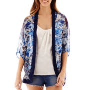 Heart & Soul® 3/4-Sleeve Print Layered Top