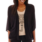 Heart & Soul® 3/4-Sleeve Elephant Print Layered Top